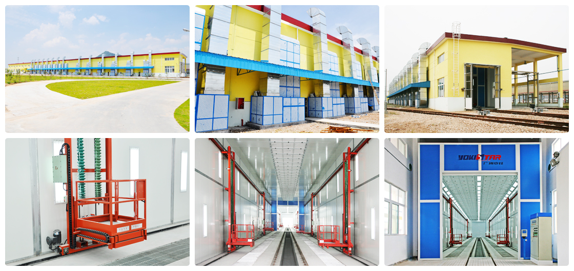 Industrial Painting Booths : Train spray booth industrial paint systems