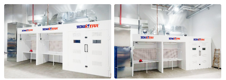 Open Face And Crossdraft Paint Booth Industrial Paint
