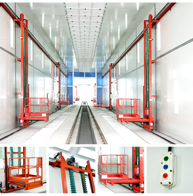 Industrial 3 Axis Platform Lift Industrial Paint Booth