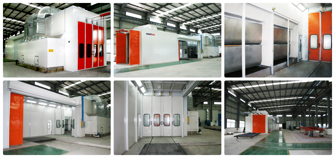 Auto Spare Parts Painting Line Industrial Paint Booth