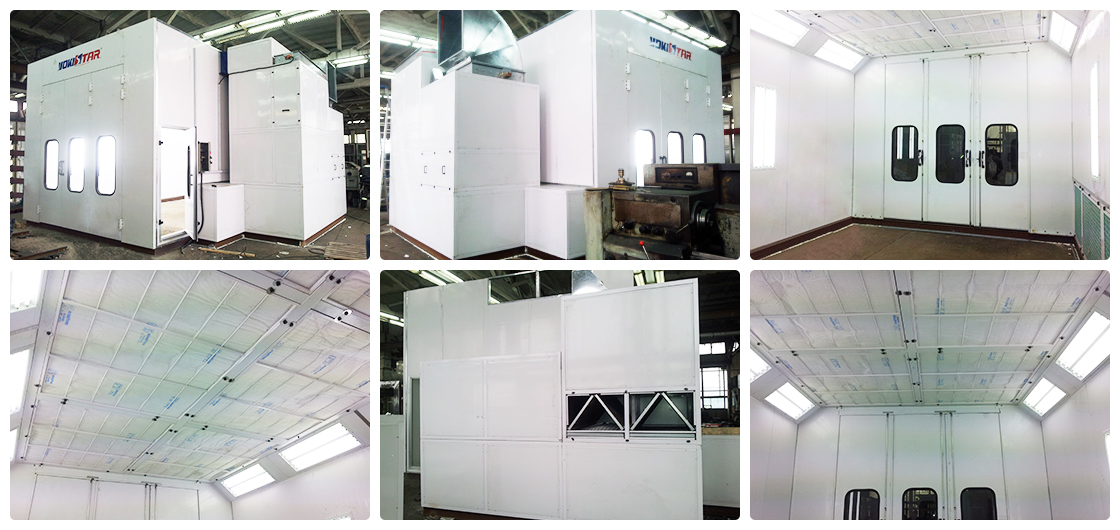 Single Wall Extraction Spray Booth Industrial Paint